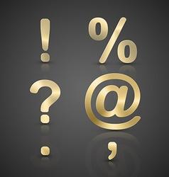 Gold Alphabet Set vector