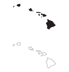 hawaii hi state maps usa with capital city star vector image