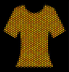 hexagon halftone lady t-shirt icon vector image