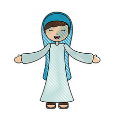 holy mary virgin character vector image