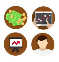 Icons Flat Set Digital vector image