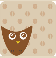 isolated on beige square geometric cute cartoon vector image