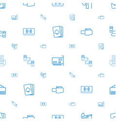 Jack icons pattern seamless white background vector