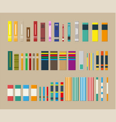 Library set of different books vector