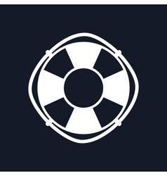 Lifebuoy Isolated on Black Background vector