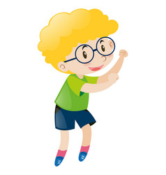 little boy wearing glasses vector image