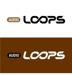 Loops text logo with infinity sign inside vector