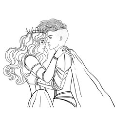Love wins romantic lesbian couple female knight vector