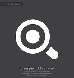 magnifier eye premium icon white on dark backgroun vector image