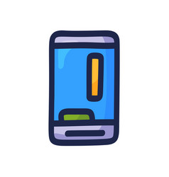 mobile game on phone hand-drawn phone vector image