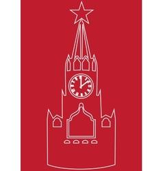 Moscow Kremlin vector image