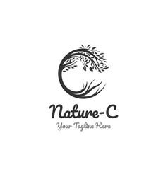 Nature logo designs and c symbol vector