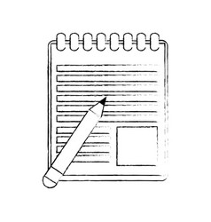 notebook open isolated vector image