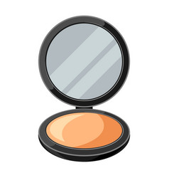 Open powder compact or make up vector