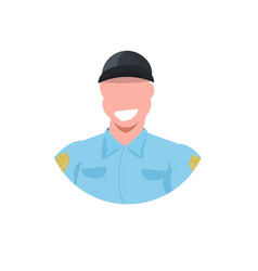 police man face avatar officer in uniform male cop vector image