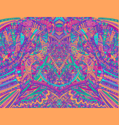 psychedelic creative colorful symmetrical pattern vector image