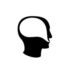 psychoterapy mental talk inside human head icon vector image