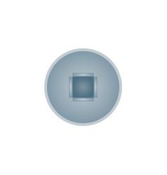 Realistic square bolt head isolated icon vector