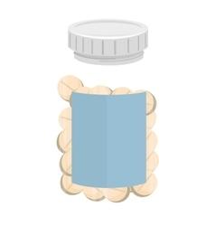 recipient drugs medicine bottle icon vector image