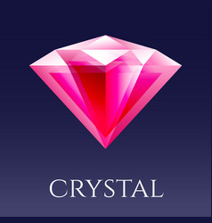 Red shine triangle crystal vector