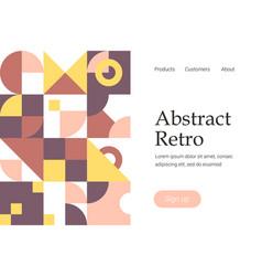 retro abstract geometric design vector image