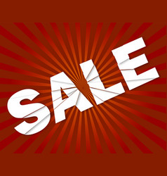 sale banners emblems on background vector image