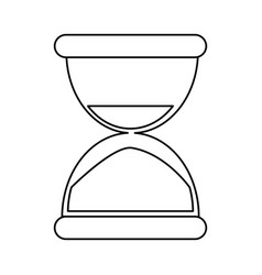 Sand clock time thin line vector