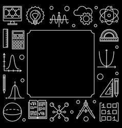Science technology engineering and math square vector