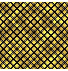 Seamless fashion pattern with gold diamonds vector