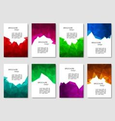 Set of brochures vector image