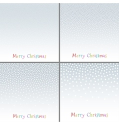 Set of Christmas New Year snowflake backgrounds vector