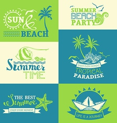 set of summer and travel labels and symbols vector image