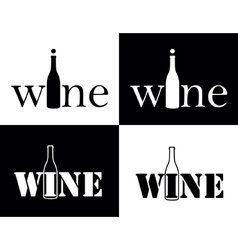 set symbol of wine vector image
