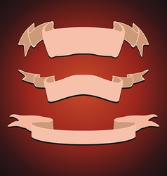 set vintage ribbons vector image