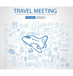 Sketch concept travelmeeting b vector