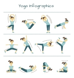 Spine neck and muscle pain exercises yoga vector image