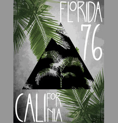 Summer theme california florida grunge background vector