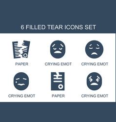 Tear icons vector