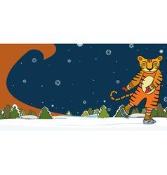 Tiger Skater Winter vector