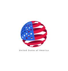 Usa flag style design element logo template vector