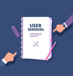 user guide document user manual reference with vector image