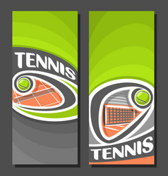 Vertical banners for tennis vector