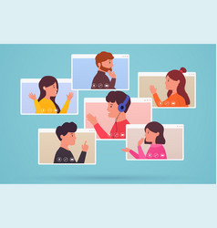 video conferencing and web communication group of vector image