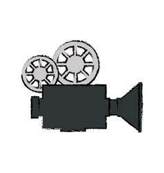 vintage camcorder equipment vector image