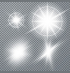 white glowing light burst explosion vector image