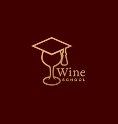 wine school logo vector image