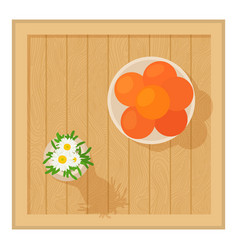 wooden table icon cartoon style vector image vector image