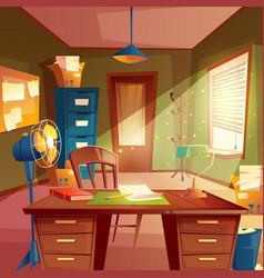 Working space study room vector