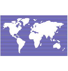 world map horizontal stripes bars - abstract vector image