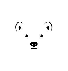face of a small polar bear vector image